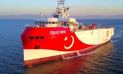 Αναχώρησε από το λιμάνι της Αττάλειας το τουρκικό ερευνητικό Oruc Reis προς τα Κατεχόμενα