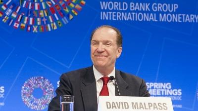 Malpass (Παγκόσμια Τράπεζα): Διαθέσιμοι πόροι 12 δισ. δολ. για την παραγωγή εμβολίων  - Χρηματοδότηση εμβολιασμών σε 50 χώρες