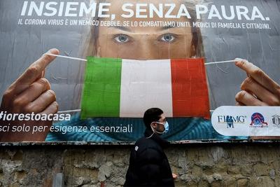 Ιταλία: 483 νεκροί από επιπλοκές του Covid σε ένα 24ωρο – Σε εμβολιασμό καλεί ο Πάπας