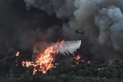 Σάκκαρη: Η συγκλονιστική φωτογραφία από τις φωτιές της Βαρυμπόμπης
