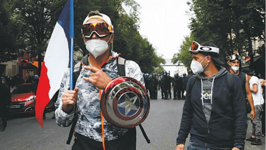 Γαλλία: Διαδήλωση στο Παρίσι κατά του πιστοποιητικού Covid-19 για την είσοδο σε κλειστούς χώρους