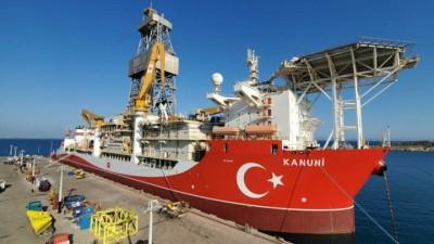 Kanuni: Tο τρίτο γεωτρύπανο της Τουρκίας μήκους 227 μέτρων και ύψος 114 μέτρων πλέει στη Μεσόγειο