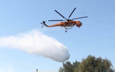 Φωτιά στην Κερατέα - Ισχυρές δυνάμεις της πυροσβεστικής στο σημείο