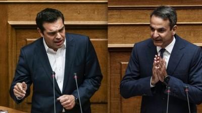 Δημοσκόπηση Marc: Υπεροχή Μητσοτάκη έναντι Τσίπρα - Δεν πιστεύει στον κορωνοϊό το 20,8% των Ελλήνων