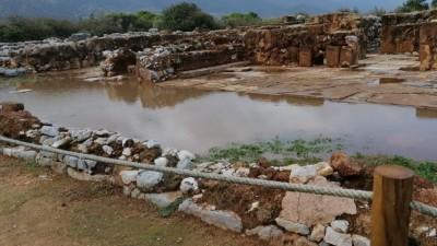 Κρήτη: Πλημμύρισε ο αρχαιολογικός χώρος στα Μάλια
