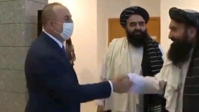 Πρώτη επίσκεψη αντιπροσωπείας των Ταλιμπάν στην Άγκυρα - Η συνάντηση με Cavusoglu