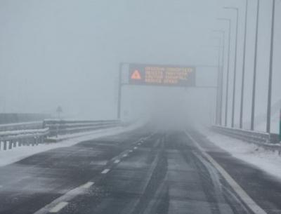 Κακοκαιρία: Απαγόρευση κυκλοφορίας φορτηγών οχημάτων σε όλο το μήκος της Εγνατίας Οδού