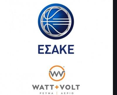 Ανανεώθηκε έως το 2022, η χορηγική συνεργασία της Watt+Volt με την Basket League