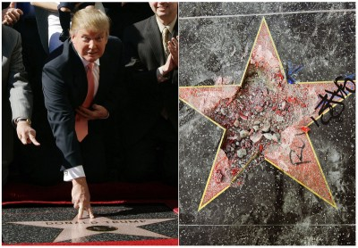 Χόλιγουντ: Κάγκελα γύρω από το αστέρι του Trump μετά από αλλεπάλληλους βανδαλισμούς