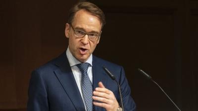 Weidmann (Bundesbank): Να μην εφησυχάζει η ΕΚΤ, ελλοχεύει ο κίνδυνος «φούσκας»