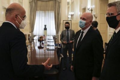 Δένδιας (ΥΠΕΞ): Συνάντηση με τον βοηθό ΥΠΕΞ των ΗΠΑ Cooper και το  βλέμμα στραμμένο στην Ανατολική Μεσόγειο