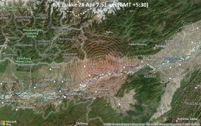 Ισχυρός σεισμός 6 Ρίχτερ χτύπησε την Ινδία – Ζημιές σε κτήρια