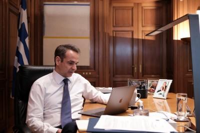 Νέα τηλεδιάσκεψη Μητσοτάκη με Τσιόδρα και υπουργούς για τον εμβολιασμό