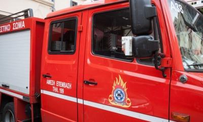 Ηράκλειο Κρήτης: Πυρκαγιά στην περιοχή Γάζι του Δήμου Μαλεβιζίου