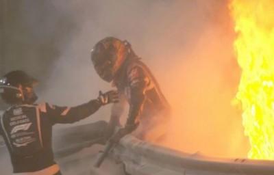Formula 1: Σοκαριστικό ατύχημα του Grosjean στο Μπαχρέιν - Σώθηκε από θαύμα