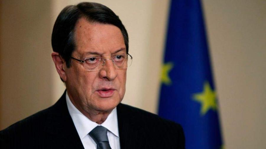 Αναστασιάδης (Κύπρος): Δεν μπορεί να αποφασιστεί θετική ατζέντα για την Τουρκία όταν αξιώνει λύση δύο κρατών
