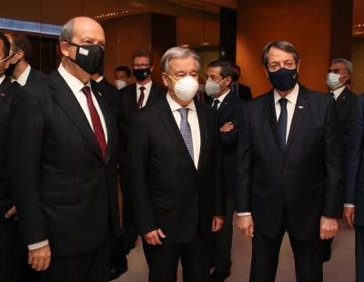 Συνάντηση Αναστασιάδη με Guterres (ΟΗΕ) και Tatar για το Κυπριακό