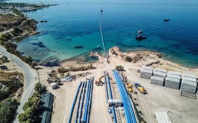 Ξεκίνησε η πόντιση του υποθαλάσσιου αγωγού υδροδότησης της Αίγινας