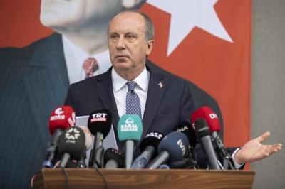 Ο μεγάλος αντίπαλος του Erdogan, Muharrem Ince ιδρύει το δικό του κόμμα