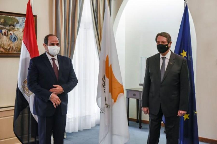 Κύπρος: Συνάντηση Αναστασιάδη και el - Sisi (Αίγυπτος) στο πλαίσιο της 8ης Τριμερούς Συνόδου Κορυφής