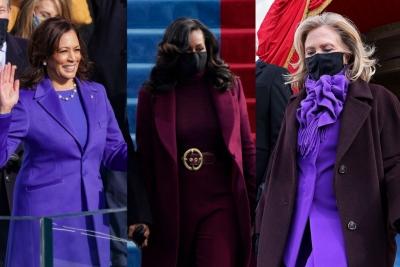 Γιατί οι Kamala Harris, Michelle Obama, Hillary Clinton φόρεσαν όλες μωβ στην ορκωμοσία;