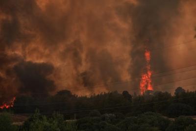 Εύβοια: Δύσκολη η κατάσταση στα Βασιλικά - Στον οικισμό οι φλόγες