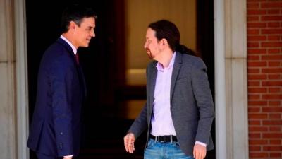Ισπανία: Δεν θα δώσουν ψήφο εμπιστοσύνης στον Sanchez οι Podemos - Κατέρρευσαν οι διαπραγματεύσεις