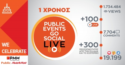 Ένας χρόνος Public Events Go Social