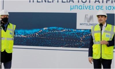 Τοποθετείται η τουρμπίνα στο CCGT της Μυτιληναίος - Εγκαίρως τον Ιούνιο το CRM δηλώνει ο Σκρέκας