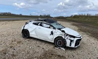 Video: Ένα Toyota GR Yaris… λιγότερο μετά από τούμπες στην πίστα