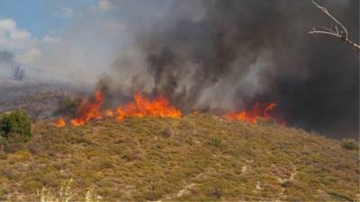Μεγάλη φωτιά στην Κεφαλονιά – Εκκενώνεται η περιοχή Καπανδρίτι