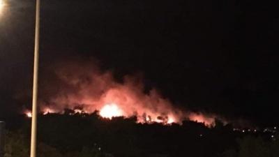 Η φωτιά στο Σχίνο Λουτρακίου