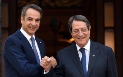 Μητσοτάκης: Όχι στη λύση των δύο κρατών στην Κύπρο - Αναστασιάδης: Ο Erdogan δεν επενδύει στην ευημερία του λαού του