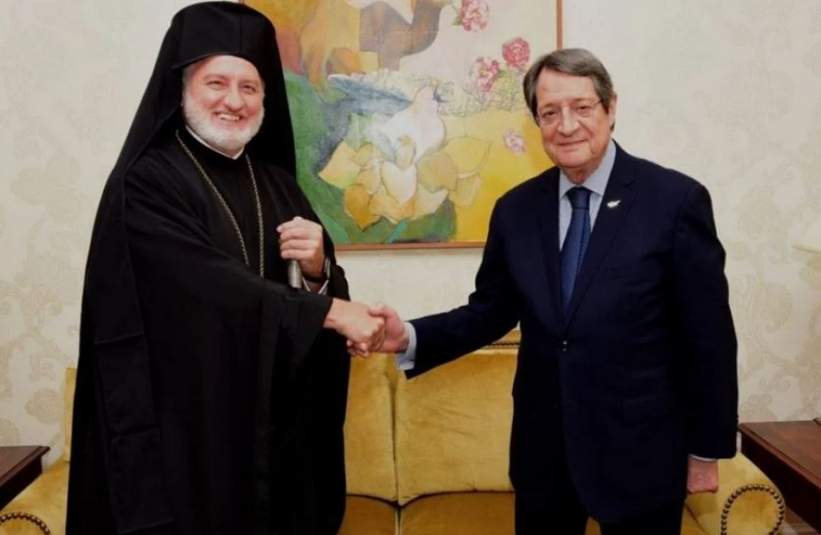 Συνάντηση Αναστασιάδη με Αρχιεπίσκοπο Ελπιδοφόρο: Το θέμα έληξε