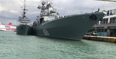 Στον Πειραιά το ρωσικό πολεμικό πλοίο «Vice Admiral Kulakov»