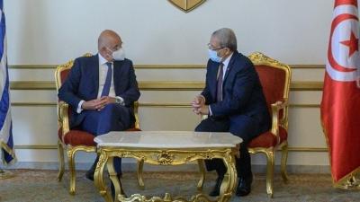 Δένδιας (ΥΠΕΞ): Σε αντίθεση με άλλες χώρες δεν έχουμε κρυφή ατζέντα στις σχέσεις μας με την Τυνησία