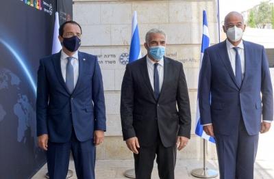 Στα Ιεροσόλυμα ο Δένδιας -  Σε εξέλιξη η τριμερής Ελλάδας - Κύπρου - Ισραήλ