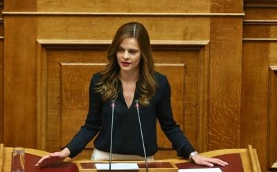 Αχτσιόγλου (ΣΥΡΙΖΑ) : Πολιτική επιλογή της ΝΔ η άρνηση στο «κούρεμα» χρεών