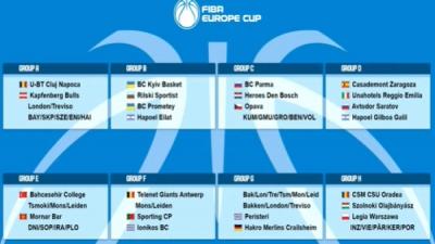 Κλήρωση FIBA Europe Cup: Ζόρια για Ηρακλή, μπορεί να προχωρήσει ο Ιωνικός
