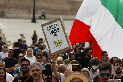 Ιταλία: Αποφεύχθηκαν εντάσεις στην κινητοποίηση των αντιεμβολιαστών στη Ρώμη