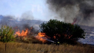 Μεγάλη φωτιά στην Κάρυστο Ευβοίας