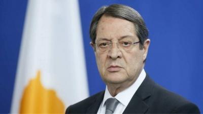 Αναστασιάδης (Κύπρος): Προειδοποίηση στην Τουρκία να αποφευχθούν νέα τετελεσμένα στο Κυπριακό