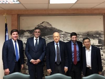 Συνάντηση ΥΠΟΙΚ Δ. Παπαδημητρίου με εκπροσώπους του κινεζικού επενδυτικού ομίλου Eastern Capital
