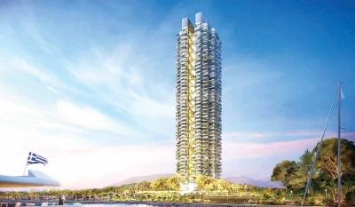 Marina Tower: Στα 250 εκατ. ευρώ το κόστος – Έτοιμος στο β' εξάμηνο του 2025