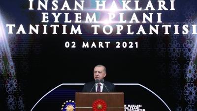 Το Σχέδιο Δράσης για τα Ανθρώπινα Δικαιώματα αποκάλυψε ο Erdogan - «Στόχος μια πιο Δημοκρατική Τουρκία»