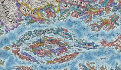 Πώς αποτυπώνεται το Διαδίκτυο σε έναν χάρτη – Ένας διαφορετικός κόσμος με άλλες «χώρες»