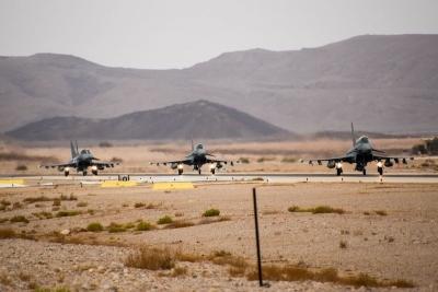 Ισραήλ: Με τη συμμετοχή οκτώ χωρών ξεκίνησε η μεγάλη αεροπορική άσκηση Blue Flag στην έρημο Νεγκέβ