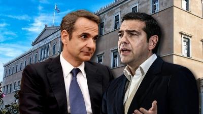 Δημοσκόπηση MRB: Προβάδισμα ΝΔ με 13,1% - Προηγείται με 35,6% έναντι 22,5% του ΣΥΡΙΖΑ