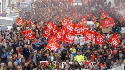 Γαλλία: Μεγάλη απεργιακή κινητοποίηση κατά της μεταρρύθμισης στον δημόσιο τομέα