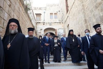 Επίσκεψη Μητσοτάκη στο Πατριαρχείο Ιεροσολύμων και στον Ναό της Αναστάσεως